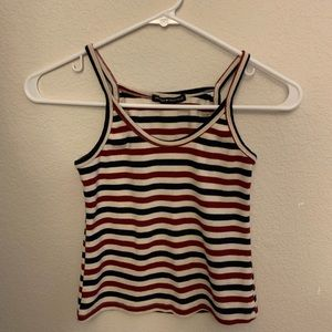 Red, White, and Blue Striped Brandy Melville Tank